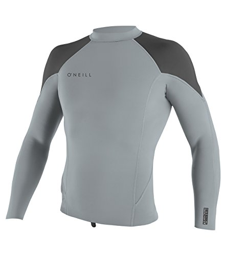 O'Neill Men's Reactor-2 .5mm Short Sleeve Top, Grey/Graphite, XX-Large by O'Neill Wetsuits