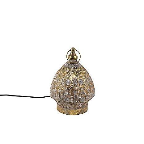 QAZQA Oriental Lámpara de mesa oriental oro 19 cm - Mowgli ...
