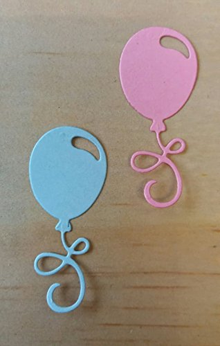 10 BLUE AND PINK CARD BALLOONS FOR CRAFTING / CARDMAKING