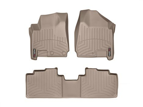 2012-2016-cadillac-srx-tan-weathertech-floor-liners-full-set-with-style-1-grommet