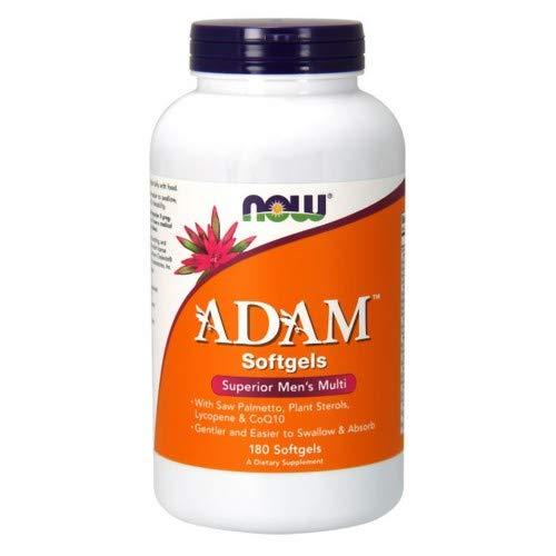 NOW Foods ADAM Men s Multiple Vitamin, 180 Softgel 2 Pack
