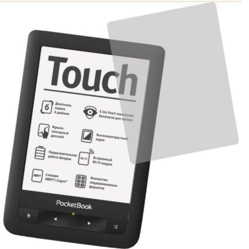 2x Entspiegelnde Displayschutzfolie von 4ProTec für eReader PocketBook Touch 622, 623 - Nahezu blendfreie Antireflexfolie