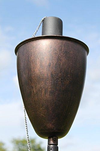 Gartenfackel aus Kupfer - Hergestellt aus Kupfer in antiker Kupferausführung - Wird mit Zitronellöl oder Ähnlichem befüllt.