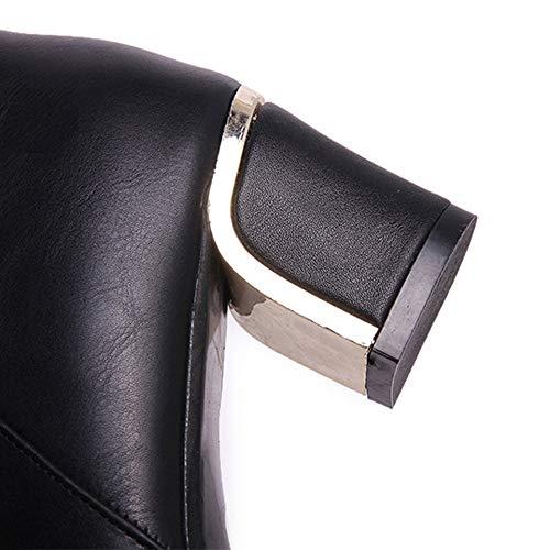 Donna Boots Quadrato Snow Cristallo Eleganti Challenge Alto Scarpe In Tacco Stivaletti Inverno Martin Con Nero Cavaliere Invernali Stivali Autunno SCCxwgq85