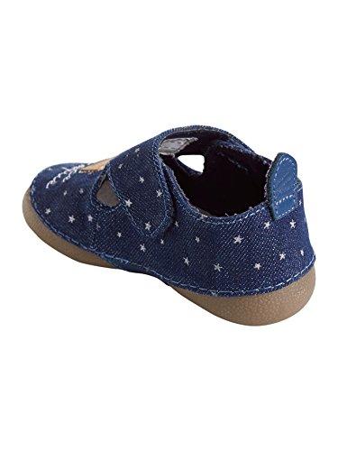 Vertbaudet Hausschuhe für Babys, Denim Jeansblau