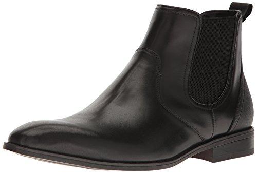 Steve Madden Men's Lobert Slip-on Loafer, Black Leather, 10.5 M US