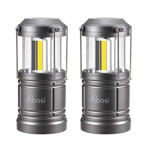 2 Pack Camping Lantern,Lantern Flashlights,Abosi Magnetic Base LED Lanterns, NEW COB LED Emits 500 Lumens,Collapsible,Waterproof Lantern with Detachable Handles (GREY)