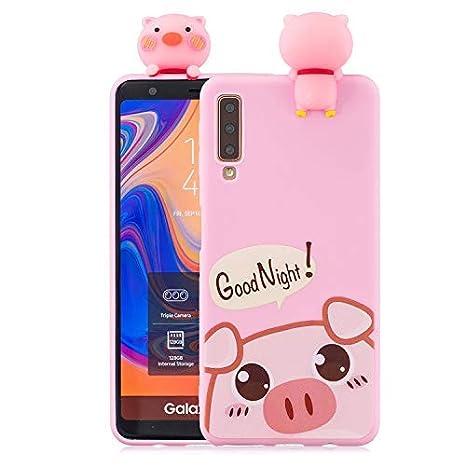 Amazon.com: Yobby 3D Cartoon Case for Samsung Galaxy A7 2018 ...
