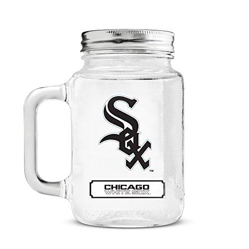 MLB Chicago White Sox 20oz Glass Mason Jar ()