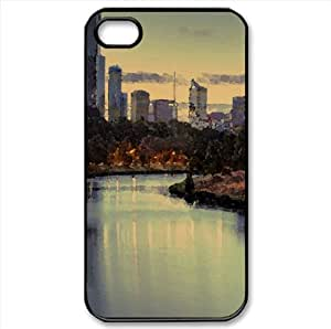 Yarra River Watercolor style Cover iPhone 4 and 4S Case