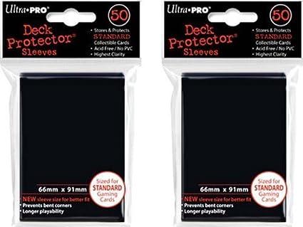 50 ULTRA PRO BLACK PRO-MATTE DECK PROTECTORS SLEEVES Standard MTG Colors Lot