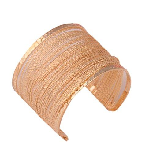 Beuu Pierced Graphic Metal Bracelet Fashion Europe Pierced Graphic Metal Bracelet (Gold)