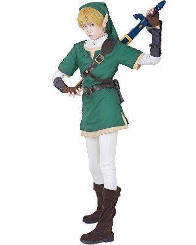 [Miccostumes Men's Premium Zelda Twilight Princess Link Cosplay Costume (M, Green and White)] (Cosplay Costume Zelda)
