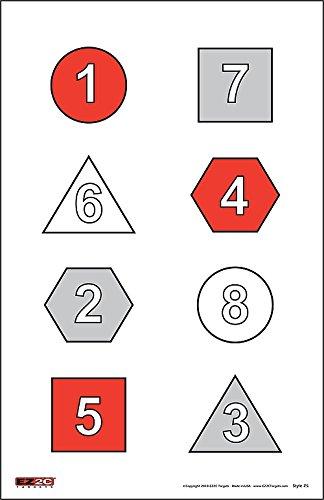 8 bullseye splatterburst target - 8