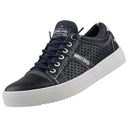 Mustang Herren 4123-401-820 Slip On Sneaker Blau (Navy)