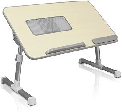 Aluratek ACT01F Adjustable, Foldable, Ergonomic, Laptop Cooling Table with Cooling Fan Standing Desk, Sofa Couch Tray, Floor