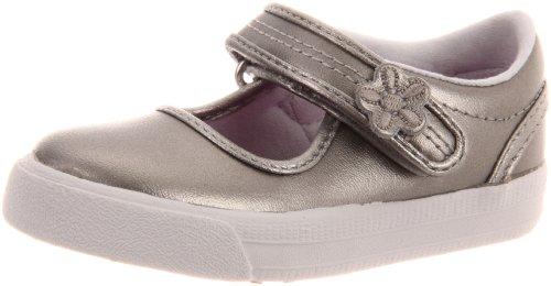 Keds Ella Mary Jane Sneaker (Toddler/Little Kid),Pewter Metallic,6.5 M US Toddler