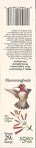 Cent Booklet (Hummingbirds Booklet of Twenty 29 Cent Stamps Scott 2646A BK201)