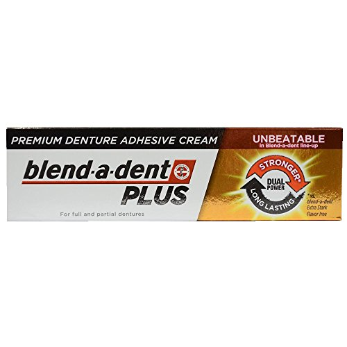 German blend-a-dent PLUS Premium Denture Adhesive Cream Dual Power 40g (Best Denture Adhesive 2019)