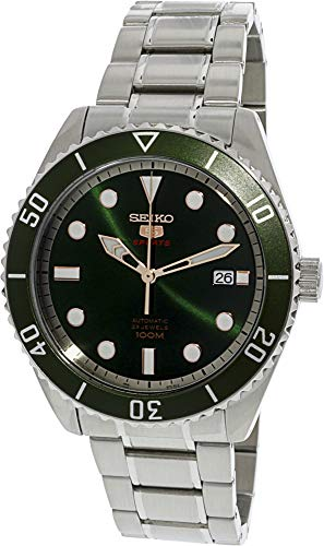 - Seiko Series 5 Automatic Green Dial Mens Watch SRPB93