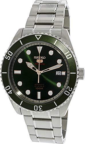 Seiko Series 5 Automatic Green Dial Mens Watch - Jewels 21 Seiko