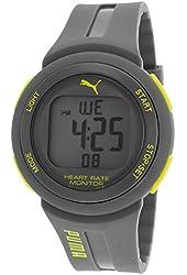 Puma Rubber Digital Neon Accent Watch - Grey