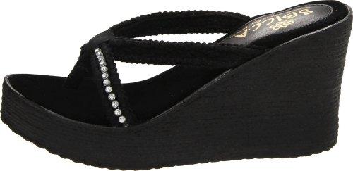 Sandal Women's Sbicca Wedge Jewel Black tYxq6pw