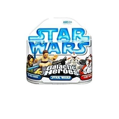 Star Wars: Clone Wars Galactic Heroes Obi-Wan Kenobi & Clone Trooper Action Figure 2-Pack