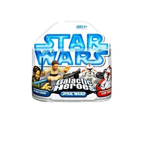 Star Wars: Clone Wars Galactic Heroes Obi-Wan Kenobi & Clone Trooper Action Figure (Galactic Heroes Game)