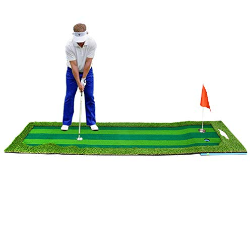 Synturfmats Golf Putting Green Mat Indoor/Outdoor Golf Training Aids System Real-Like Artificial Grass Golf Simulator Putting Trainer Set for Home, Office Practise Size 2.5'x10'