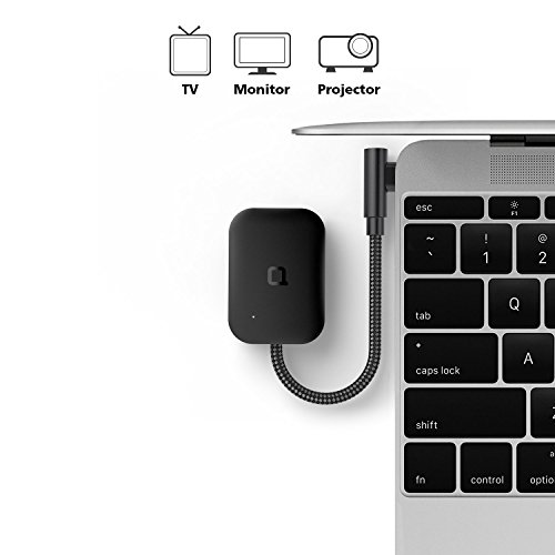 nonda USB-C to HDMI Adapter 4K@60Hz UHD, Foldable USB 3.1 Type C (Thunderbolt 3) to HDMI Dongle for 2017/2016 Macbook Pro, 2016/2015 MacBook, Samsung Galaxy Note 8/S8/S8 Plus, Chromebook Pixel etc
