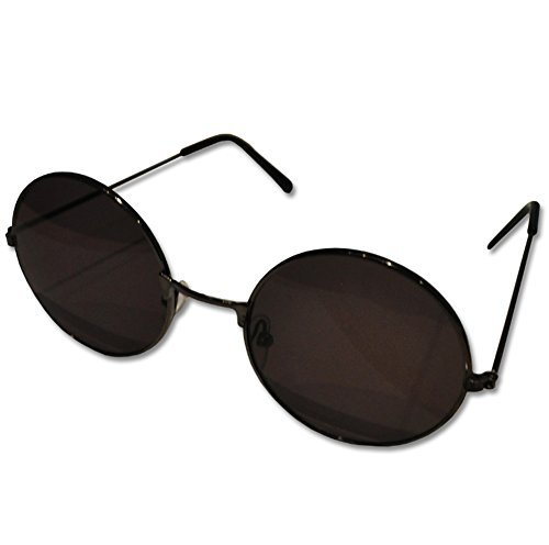 Black Round John Lennon Style Retro Sunglasses Sussex Supplies sun-len-black