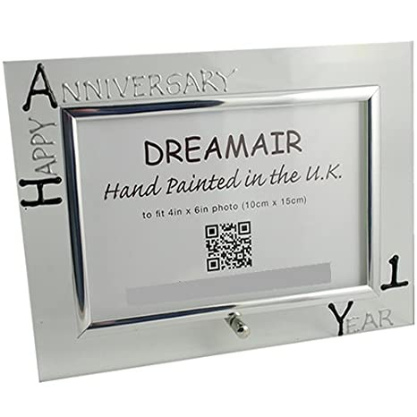 1st One Year Anniversary Photo Frame L Blacksilver Amazonca