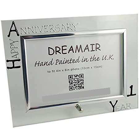 1st Year One Year Anniversary Photo Frame L Blacksilver