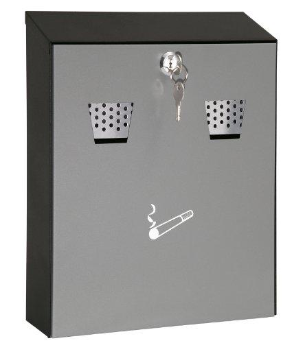Wedo 17035112 Wandascher kompakt grau/schwarz Füllmenge 3,1 l Pulverbeschichtetes Stahlblech