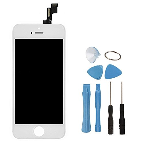 UPC 702658399191, LCD Touch Screen Digitizer Frame Assembly Full Set LCD Touch Screen Replacement for iPhone 5S - White