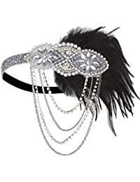 Gold Inspired 1920s Flapper Headband Accessories Gatsby...