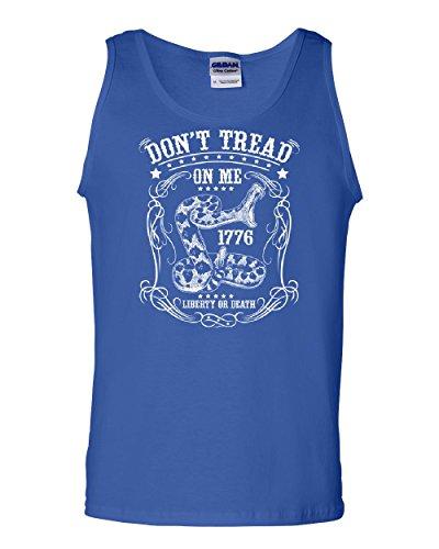 Don't Tread on Me Tank Top Liberty Or Death Gadsden Viper Snake Sleeveless Blue 2XL