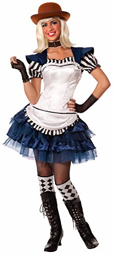 Forum Novelties Women's Steampunk Fairytales Alice Costume, Blue/White, Medium/Large ()