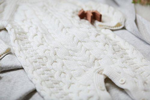 Hope Henry Layette Ivory Cable Knit Sweater Romper Made With