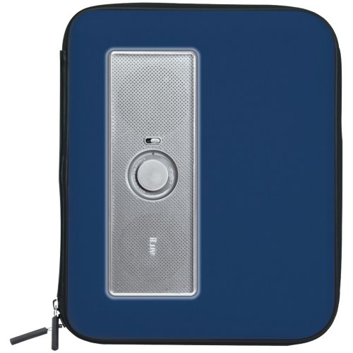 iLuv Music Pac Portable Stereo Speaker Case for Samsung Galaxy S and Galaxy Tab Series - Blue (iSP230BLU)