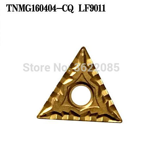 FINCOS 10pcs TNMG160404 TNMG160408-CQ LF9011 CVD Coated Turning Inserts For Steel - (Angle: R0.8) ()