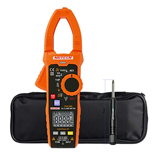 NKTECH NK260E LowZ 1000V VFD Analogue Bar Graph Ture RMS Digital Clamp Meter Temperature AC DC Volt AC Current Resistance Frequency 10KHz Capacitance Backlight NCV Tester 35mm Jaw ()