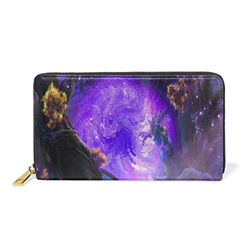 Blocking Real Leather Zip Magical Wallpapers For Desktop Around Wallet Clutch Large Travel Purse Wristlet