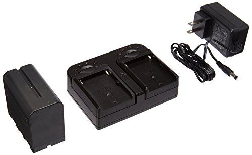 Ikan DV-DUAL-S970 DV Battery Kit with 2X NP-F970 Li-Ion Batteries & Dual Charger, Black