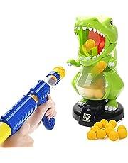 EagleStone Dinosaur Shooting Toy for Kids Target Shooting Game with Air Pump Gun Green