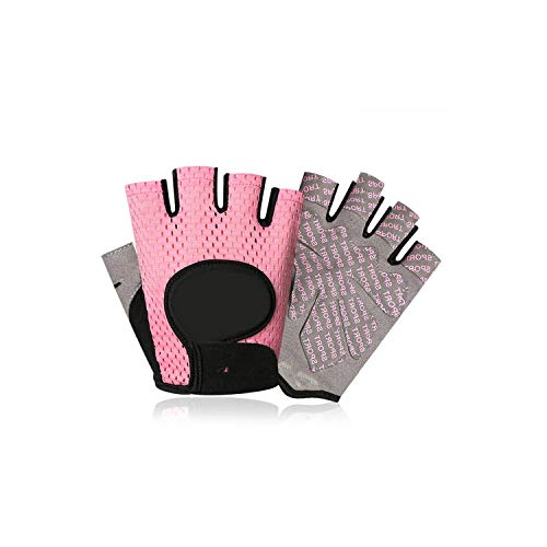 Voic-A Half Finger Weightlifting Gloves Fitness Gloves Non Slip Durable Dumbbell Workout Gloves