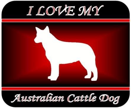 Red Design I Love MyAustralian Cattle Dog Mouse Pad