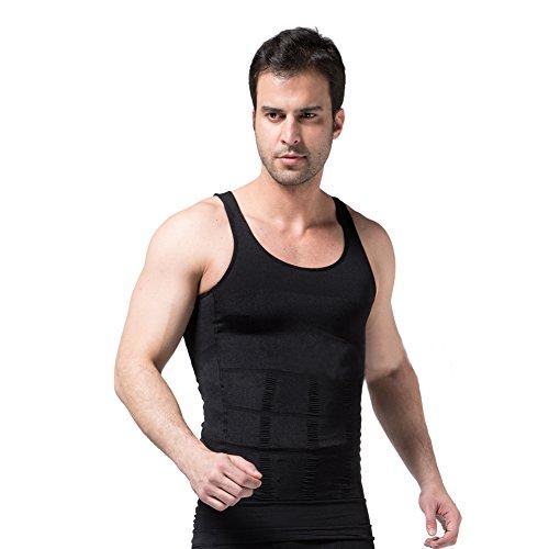 CompressionZoneVest Men's Compression Undershirt Body Shaper Slimming Shapewear Gynecomastia Shirt