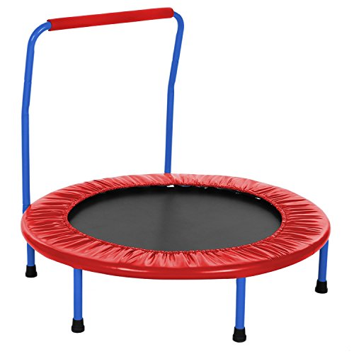Peatao 36 Mini Trampoline Portable Foldable Rebounder Trampoline with Handle and Padded Frame for Kids Age 3 US Stock